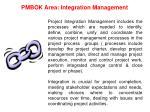 pmbok area integration management