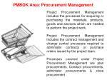 pmbok area procurement management