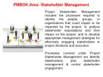pmbok area stakeholder management