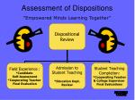 assessment of dispositions empowered minds learning together