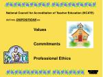national council for accreditation of teacher education ncate defines dispositions as