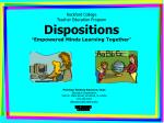 rockford college teacher education program dispositions empowered minds learning together