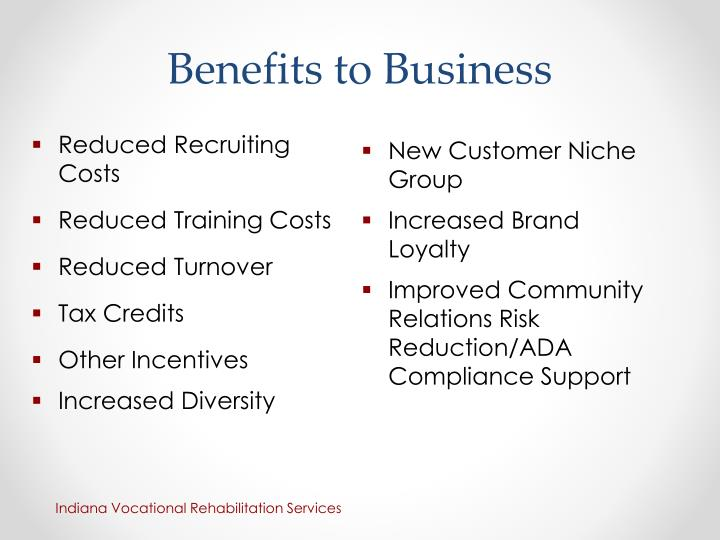 Benefits to Business