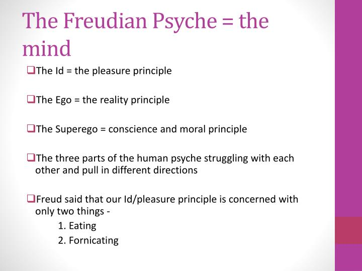 pleasure principle reality principle