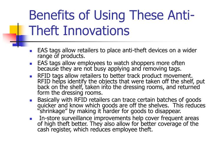 Benefits of Using These Anti-Theft Innovations
