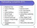participating companies 2010
