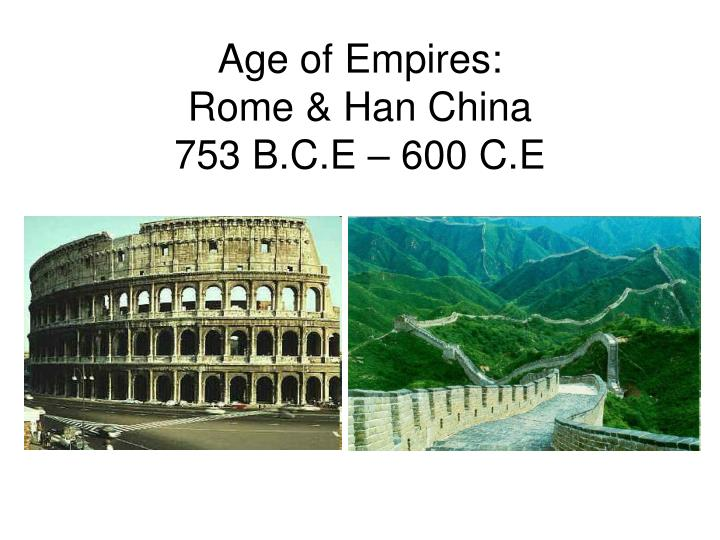 compare rome and han china at