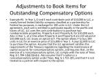 adjustments to book items for outstanding compensatory options1
