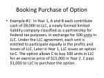 booking purchase of option