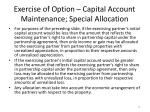 exercise of option capital account maintenance special allocation1