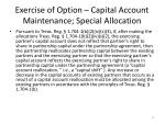 exercise of option capital account maintenance special allocation3