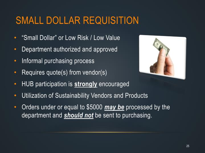Small Dollar Requisition
