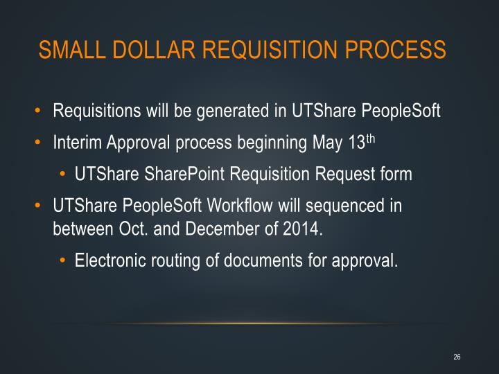 Small Dollar Requisition Process