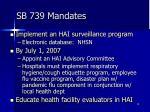 sb 739 mandates