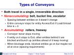 types of conveyors
