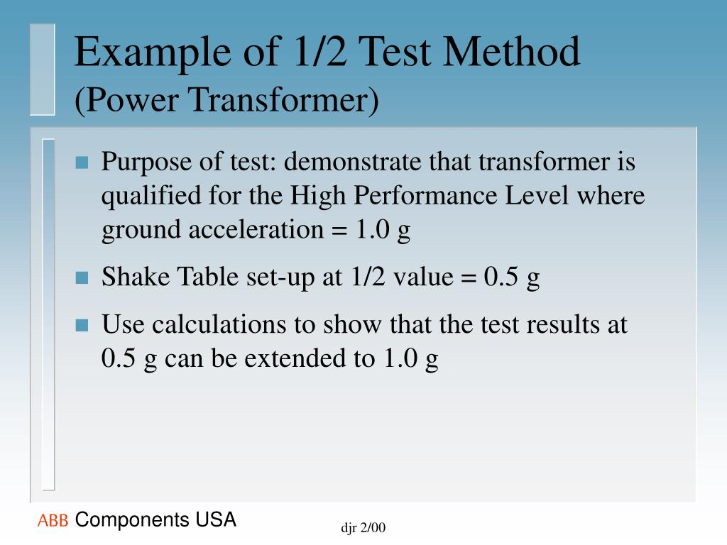 PPT - Seismic Considerations & Power Bushings PowerPoint