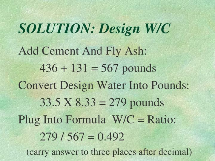 SOLUTION: Design W/C