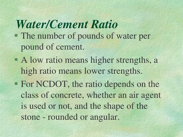 Water cement ratio1