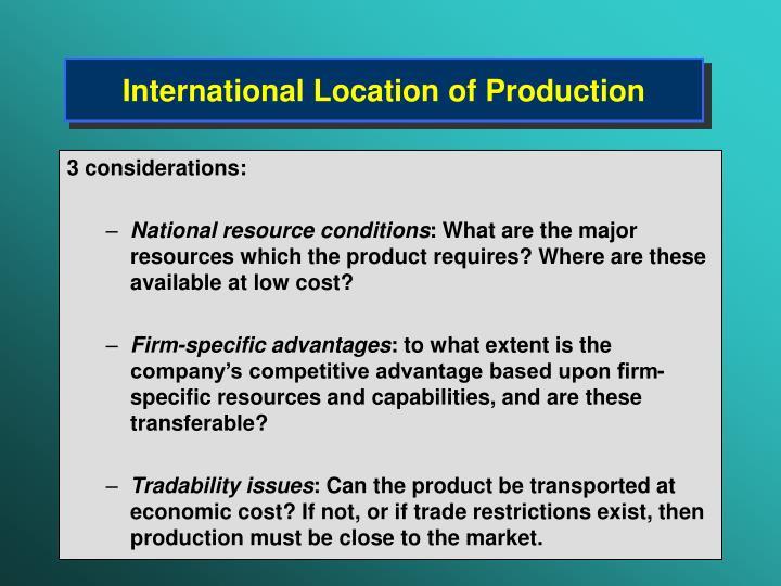 International Location of Production