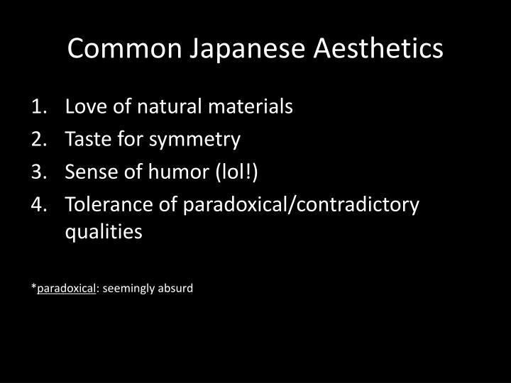 Common japanese aesthetics