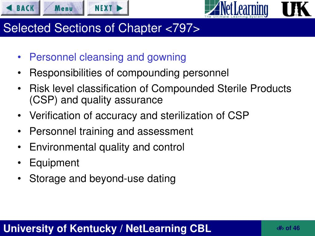 797 sterile personnel compounding a guide pharmacy answers chapter to for general USP Compounding