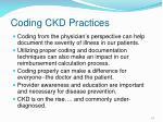 coding ckd practices