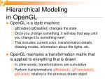 hierarchical modeling in opengl
