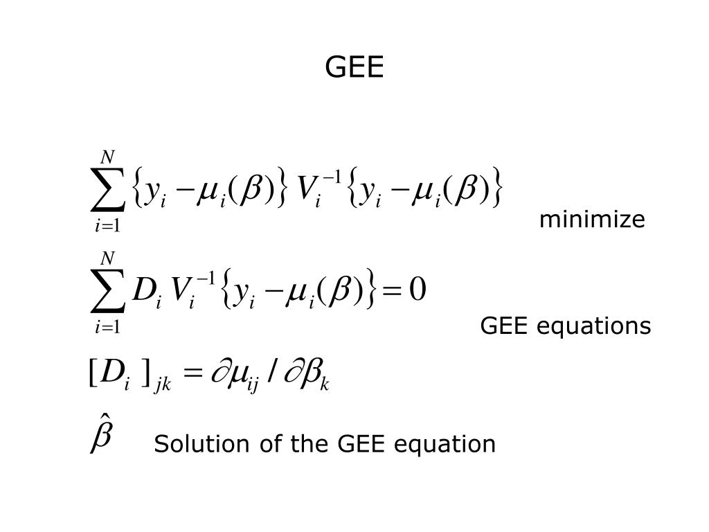 PPT - Lecture 9: Marginal Logistic Regression Model and GEE