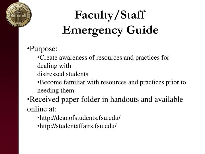Faculty/Staff Emergency Guide