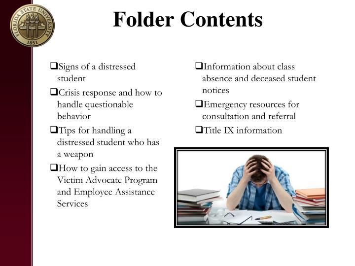 Folder Contents