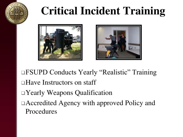 Critical Incident Training