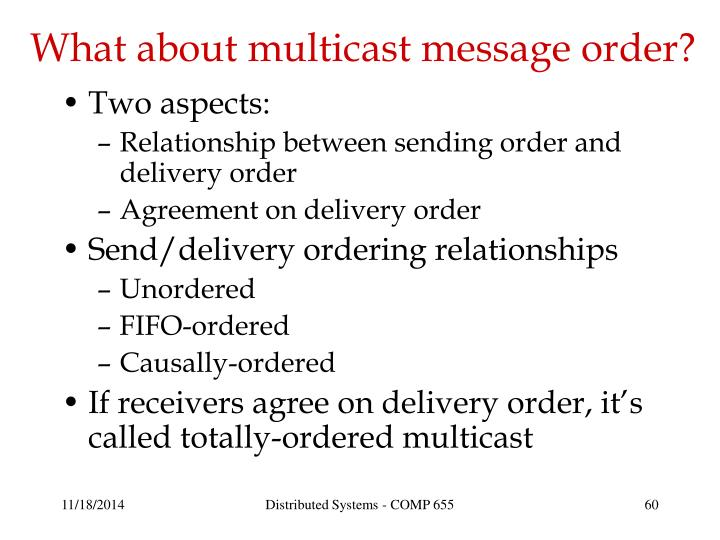 What about multicast message order?