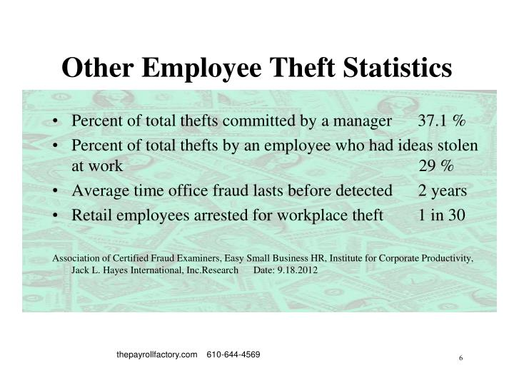 Other Employee Theft Statistics