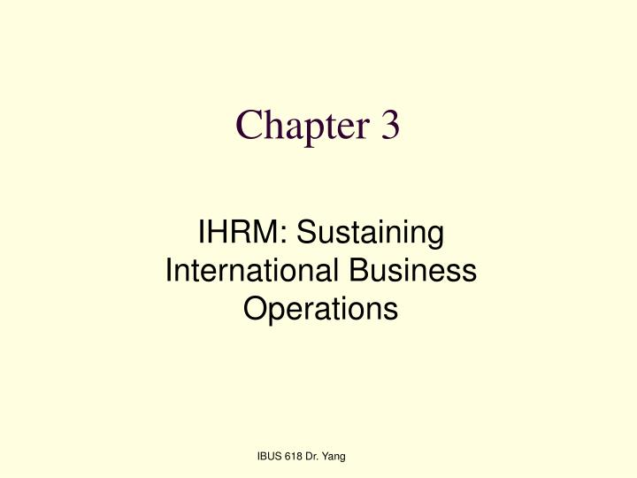 ihrm portfolio To appreciate the strategic role of international hrm (ihrm) portfolio of brands, which are sold in a wide range of markets the brands include consumer.
