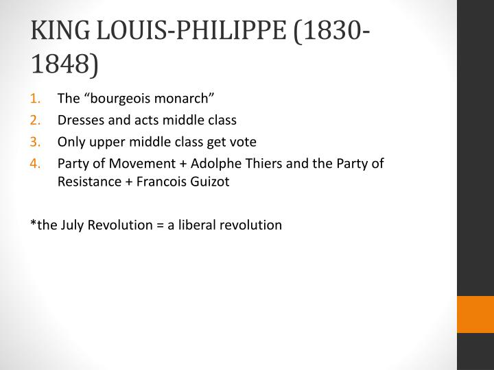 King louis philippe 1830 1848
