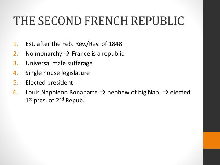 THE SECOND FRENCH REPUBLIC