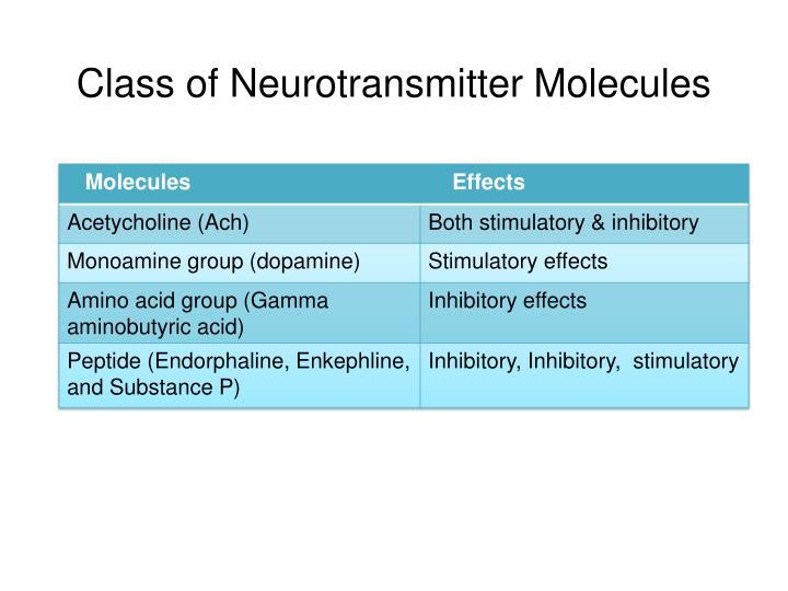 Class of Neurotransmitter Molecules