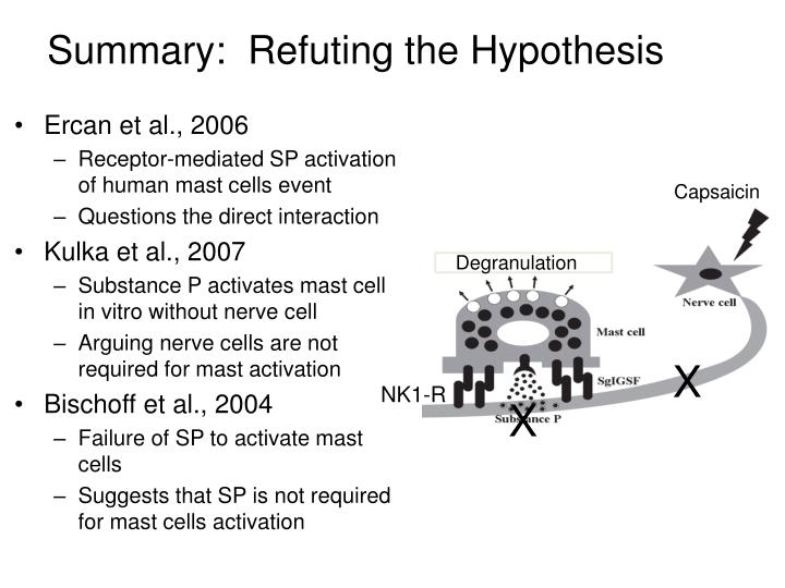 Summary:  Refuting the Hypothesis