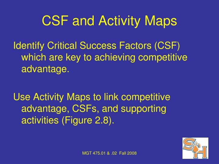 CSF and Activity Maps