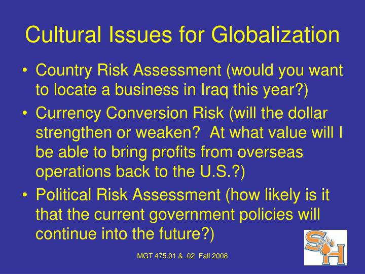 Cultural Issues for Globalization
