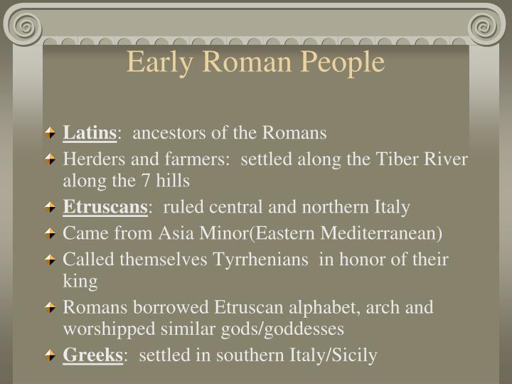 Early Roman People