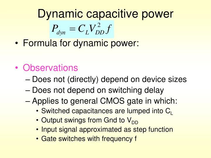 Dynamic capacitive power