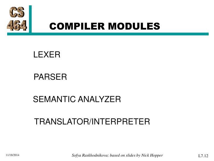COMPILER MODULES