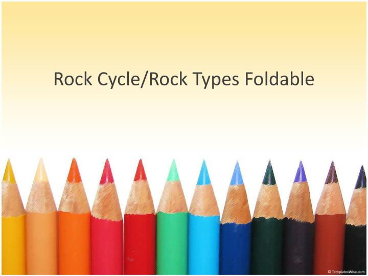 rock cycle rock types foldable n.