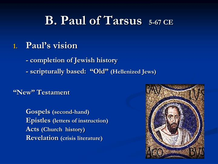 B. Paul of Tarsus