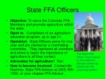 state ffa officers