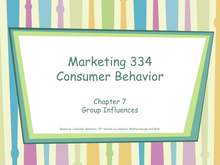 marketing 334 consumer behavior n.