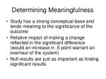 determining meaningfulness