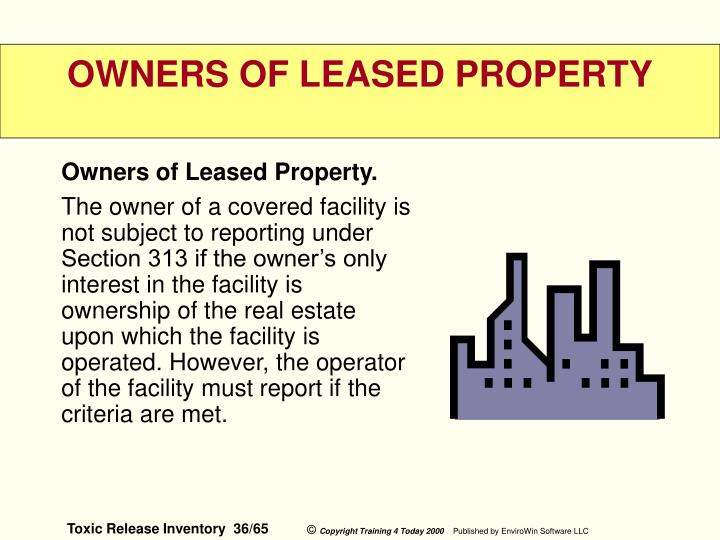 Owners of Leased Property.