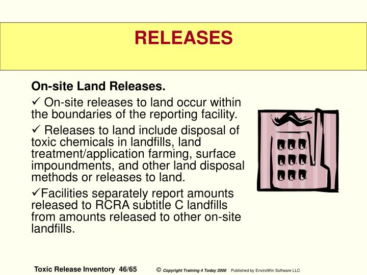On-site Land Releases.